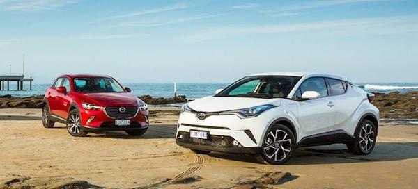 คู่แข่งโดยตรงของ HR-V ทั้ง Mazda CX-3 และ Toyota C-HR รวมไปถึง MG ZS