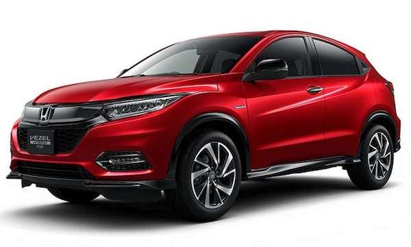 รูปลักษณ์ภายนอก Honda HR-V 2018 ที่ญุี่ปุ่นใช้ชื่อว่า Vezel