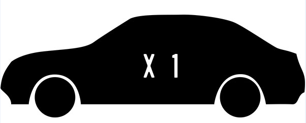 ป้าย X 1