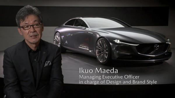 อิคุโอะ มาเอดะ  ผู้ออกแบบ Mazda Kai Concept  รถแฮทช์แบคต้นแบบ  New Mazda 3 ปี 2019