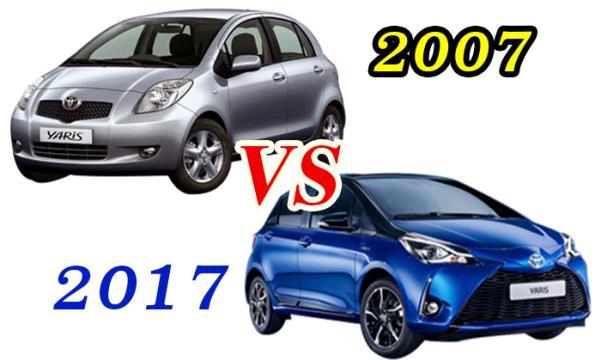 Yaris 2007 vs Yaris 2017