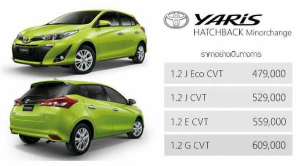 Toyota Yaris 2017 ไมเนอร์เชนจ์ใหม่