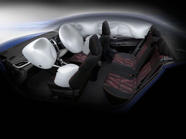 อุปกรณ์ความปลอดภัยใน Toyota Yaris Ativ ถือว่าครบครัน