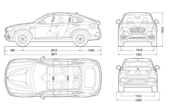 ข้อมูลจำเพาะทางเทคนิค ของ BMW X4