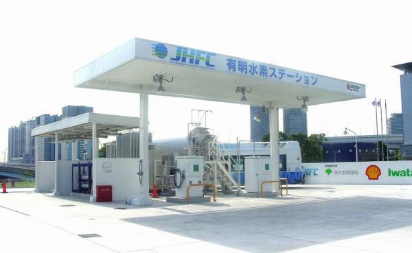 สถานีไฮโดรเจนในประเทศญี่ปุ่นที่ดูกว้างขวางสะอาดตาตามไสตล์ญี่ปุ่น