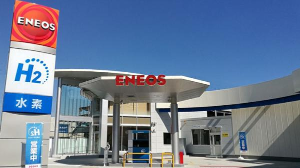 แบรนด์ENEOSชื่อดังในญี่ปุ่นก็มีสถานีไฮโดรเจนเช่นกัน