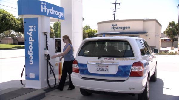 Shell ก็มีสถานีไฮโดรเจนในสหรัฐอเมริกาเช่นกันและก็เติมเองโดยผู้ใช้รถตามไสตล์ฝรั่ง