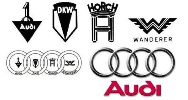 โลโกของค่ายรถยนต์ Audi เกิดจากการรวมตัวของผู้ผลิตรถใน ประเทศเยอรมนี ด้วยกัน