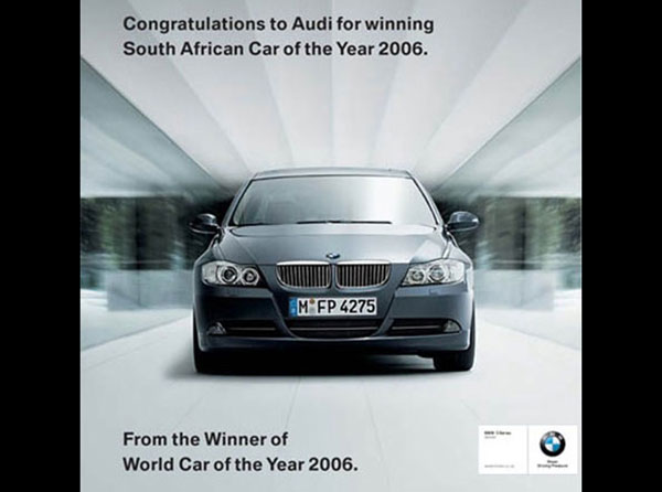 Print Ad ที่จิกกัดจาก BMW ถึง Audi