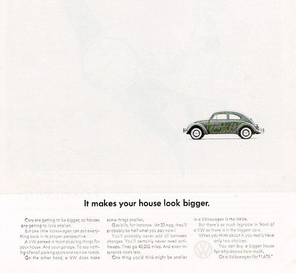 โฆษณาสร้างจุดเด่นจากขนาดเล็กๆของรถ Volkswagen