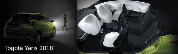 ความปลอดภัยดีเกินตัว กับถุงลมที่ให้มาถึง 7 จุดสำหรับ Toyota Yaris