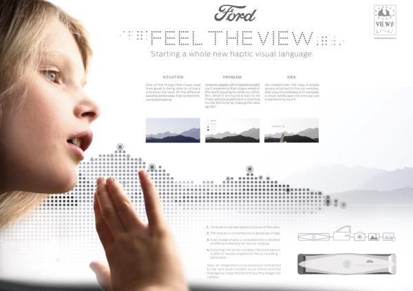 """""""Feel The View"""" โปรเจ็กต์นวัตกรรมยานต์ดีๆ จาก """"Ford"""" สำหรับผู้พิการทางสายตา"""