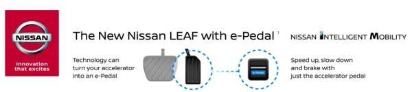 ระบบ E-PEDAL ของ Nissan เพื่อความเรียบง่ายที่สร้างความตื่นเต้นกับการขับขี่แบบใหม่