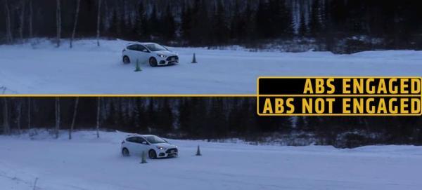 ระบบเบรกABSยังต้องทำงานได้ดีแม้ถนนจะลื่นกว่าปกติเพราะหิมะ