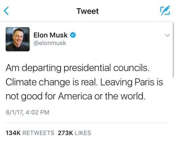 Elon Musk ก็ยังให้ความสำคัญกับปัญหาภาวะโลกร้อน