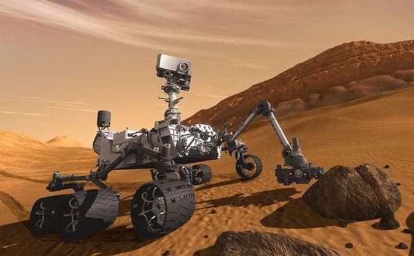 แขนกลของ Curiosity ที่ใช้ในการปฏิบัติภารกิจยาวประมาณ 2 เมตร