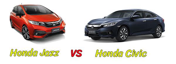 เปรียบเทียบ Honda Jazz กับ Honda Civic เลือกคันไหนเพราะอะไรดี