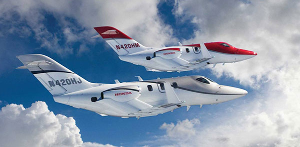 เครื่องบินรุ่นปัจจุบันที่ฮอนด้ายังคงขายอยู่ HA420