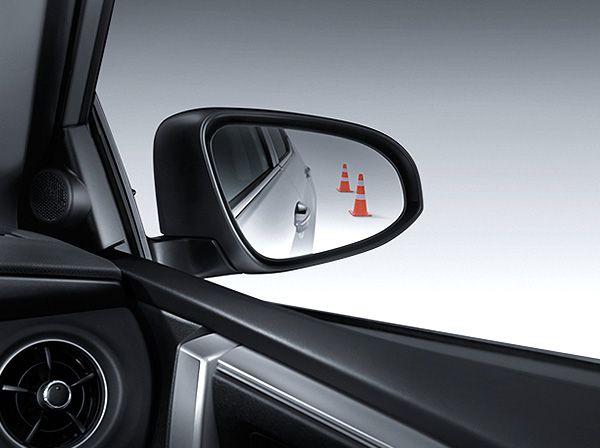 กระจกมองข้างที่ช่วยให้มองเห็นมุมมองด้านหลังได้กว้างมากยิ่งขึ้น