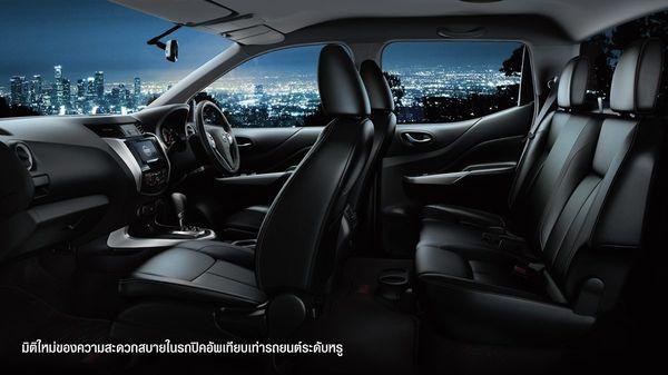 ภายใน Nissan Navara 2018 ที่เน้นความหรูหราแต่ยังคงความเป็นรถกระบะ