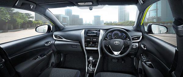 ภายในของ Toyota Yaris1.2E