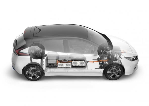 Nissan Leaf ขับเคลื่อนด้วยมอเตอร์ไฟฟ้า AC Synchronous electric motor