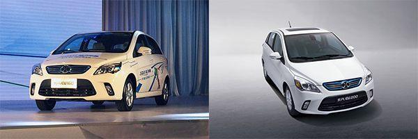 รถยนต์ตระกลู E-Series ES160, EV200, EV210 และ EV150 (เรียงจากซ้ายไปขวาและบนลงล่างตามลำดับ)