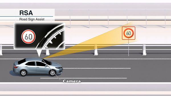 ระบบแจ้งเตือนป้ายจราจรของค่ายรถยนต์ในปัจจุบัน กล้องต้องมองเห็นป้ายชัดเจนจึงจะแสดงผลถูกต้อง