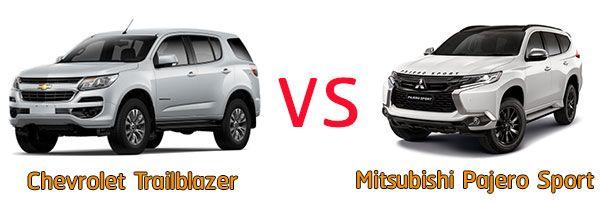 รถยนต์ Chevrolet Trailblazer และ Mitsubishi Pajero Sport