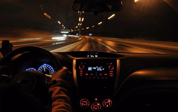 ขับรถตอนกลางคืนอันตราย