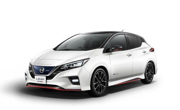 Nissan Leaf สีขาวที่ Nissan นำมาทำตลาดรถยนต์ไฟฟ้าในไทย