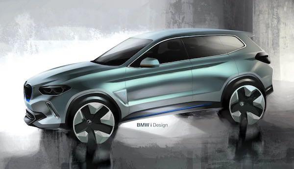 ภาพสเก็ตก่อนจะทำการสร้าง BMW iX3
