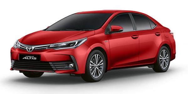 สีแดง Red Mica Metallic ใหม่สำหรับ  Toyota Altis 2018