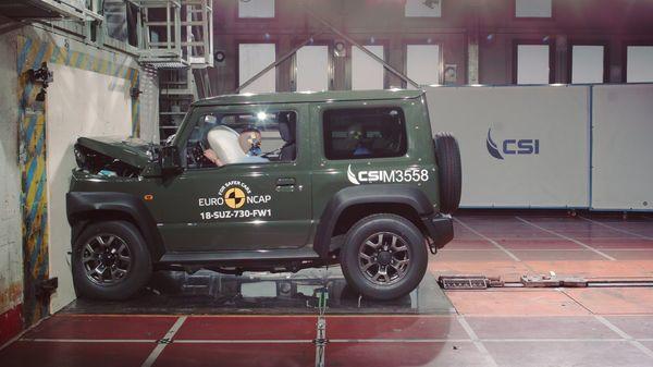 ความปลอดภัยมาตรฐานของ Suzuki Jimny คือ EURO NCAP 3ดาว