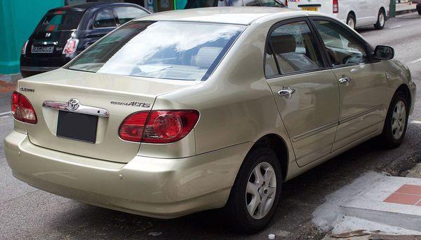 รถยนต์ Toyota Altis Generationที่9 ออกขายช่วงปี 2000-2007