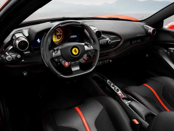 ภายในห้องโดยสาร Ferrari 488 สุดล้ำสมัย