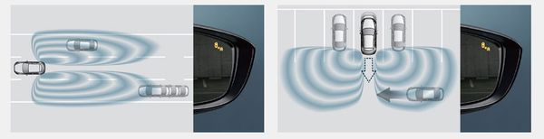 ระบบเตือนเมื่อมีรถในจุดอับสายตาขณะเปลี่ยนเลนและระบบเตือนเมื่อมีรถในจุดอับสายตาขณะถอยหลัง