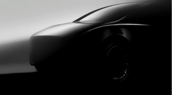 ภาพทีเซอร์ด้านข้างของ Tesla Model Y