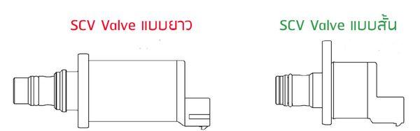 เปรียบเทียบภายนอกของ SCV Valve แบบยาวและแบบสั้น แนะนำเปลี่ยนเป็นแบบยาว