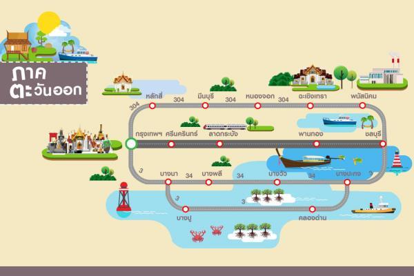 เส้นทางเลี่ยงรถติด ช่วงเทศกาลสงกรานต์ 2562 ภาคตะวันออก