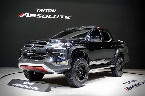 ภาพรวม Mitsubishi Triton Absolute เป็นกระบะแต่งจากโรงงานที่น่าจับตามองไม่น้อย