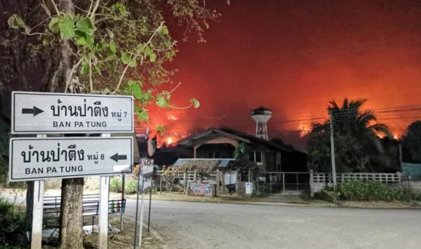 ภาพเหตุการณ์วิกฤติไฟป่า ในพื้นที่จังหวัดทางภาคเหนือ