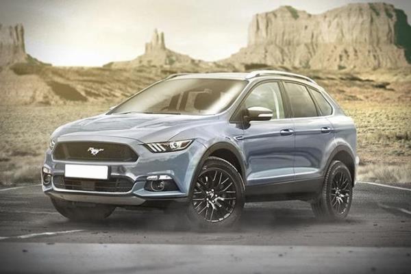 การคาดเดาการออกแบบ Ford Mustang รุ่น SUV พลังงานไฟฟ้า