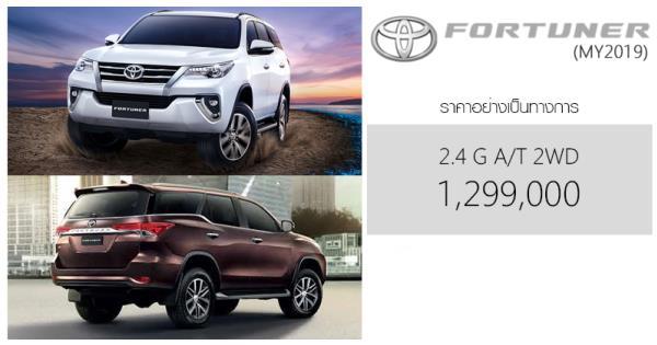 Toyota Fortuner ราคา 1,239,000 บาท