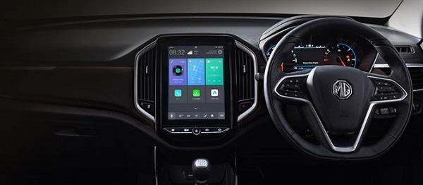 หน้าจออินโฟเทนเม้นท์แบบ HD ขนาด 10.4 นิ้ว ที่เป็นอีกหนึ่งจุดขายของ MG Hector 2019