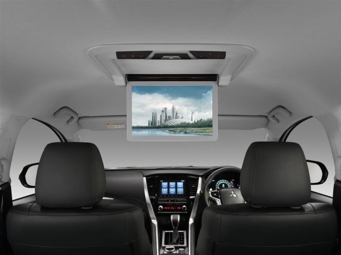 จอภาพแบบ Wide Screen ขนาด 12.1 นิ้ว บริเวณหลังคาโซนหลัง เฉพาะรุ่น 4WD GT-Premium
