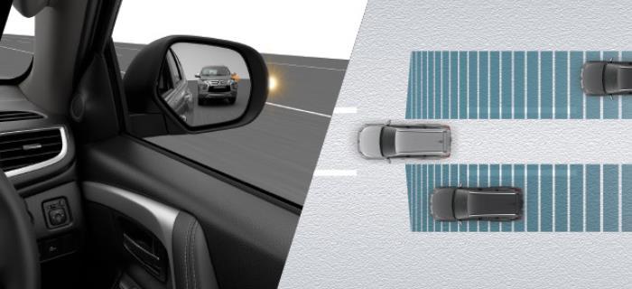 ระบบเตือนขณะที่เปลี่ยนเลนในรุ่น 4WD GT-Premium