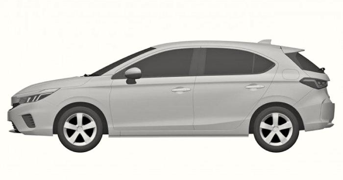 ภาพสิทธิบัตรการออกแบบ Honda City Hatchback 2021