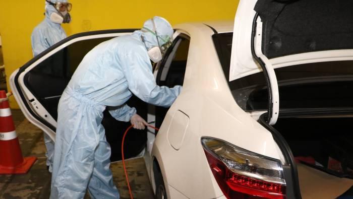 ทำความสะอาดและฆ่าเชื้อ Covid-19 ในรถฟรี