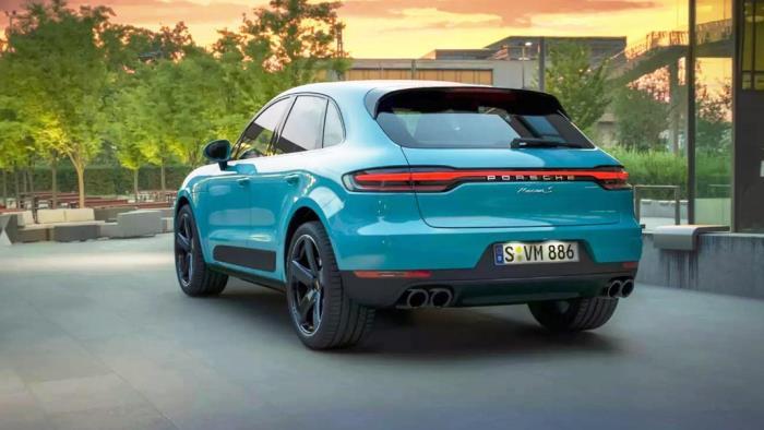 Porsche Macan การออกแบบด้านหลัง